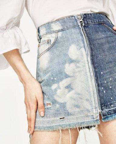 Jupe jean clairs et foncé zara