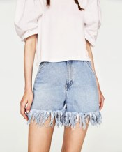 short jean a franges zara