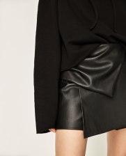 short simili cuir noir zara