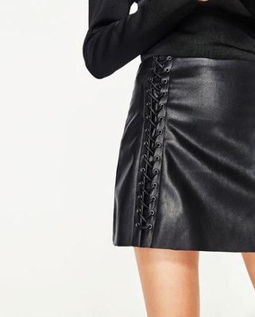 jupe cuir noir