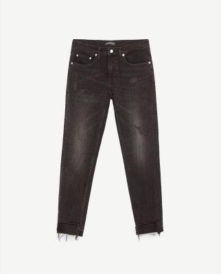 jean noir taille basse déchiré solé 19,99 - Copie